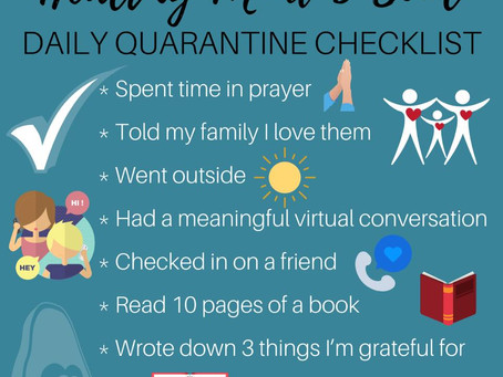 Healthy Mind & Soul Quarantine Checklist
