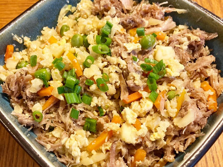 Cauliflower Fried Rice with Pulled Pork!