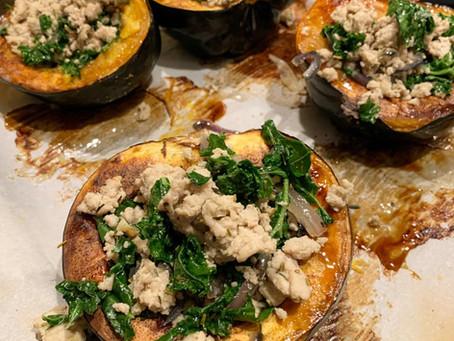 Turkey & Herb Stuffed Acorn Squash
