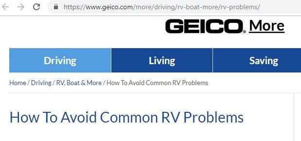 GiGi as The RV Expert on Geico BLog