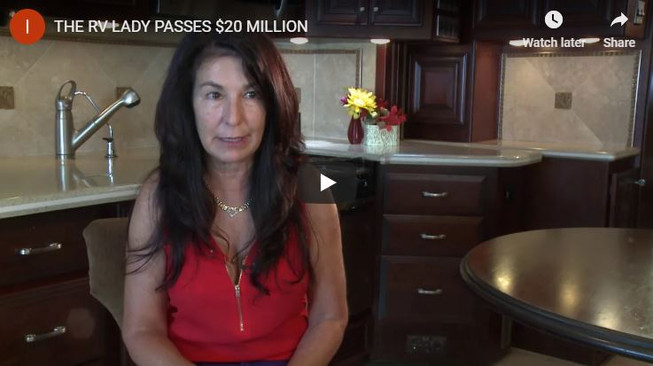 THE RV LADY PASSES 20 MILLION