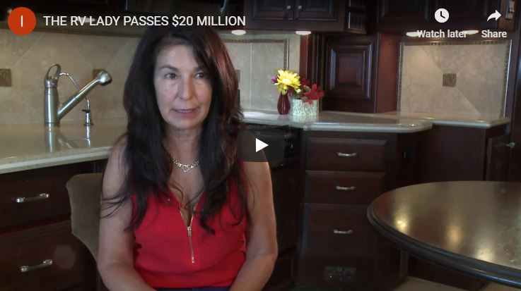THE RV LADY PASSES 20 MILLION