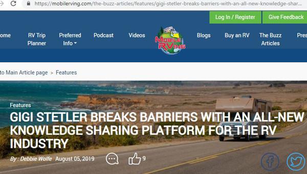 2019-08-05- Artile on Mobile RVing website