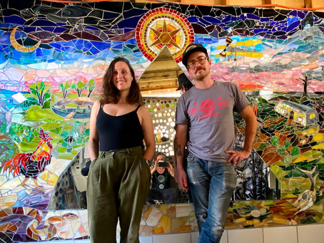 S1E8 STAINED GLASS MOSAIC BY MULTI-FACETED ARTISTS CAT GLENNON & KEN MADORE