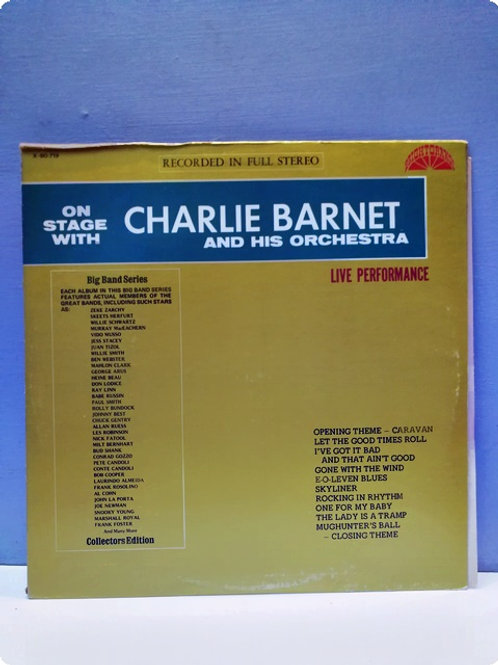 Charlie Barnet and His Orchestra- Live Performance-Plak-LP