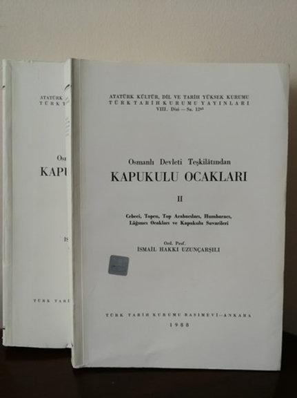 Osmanlı Devleti teşkilatından Kapıkulu ocakları. 2 cilt TAKIM