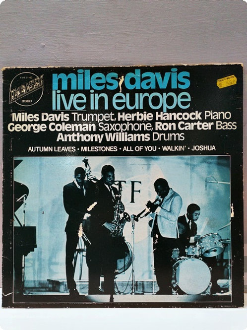 Miles Davis- Live in Europe-Plak-LP