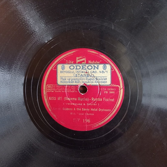 CARROL GIBBONS AND THE SAVOY HOTEL ORPHEANS TAŞ PLAK