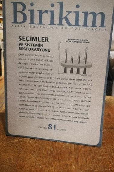 Birikim Aylık Sosyalist Kültür Dergisi Sayı : 81