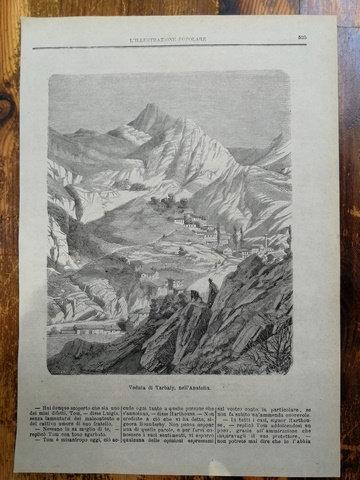 Torbalı manzarası Anadolu/ Veduta di Trabaly nell'Anatolia Gravür