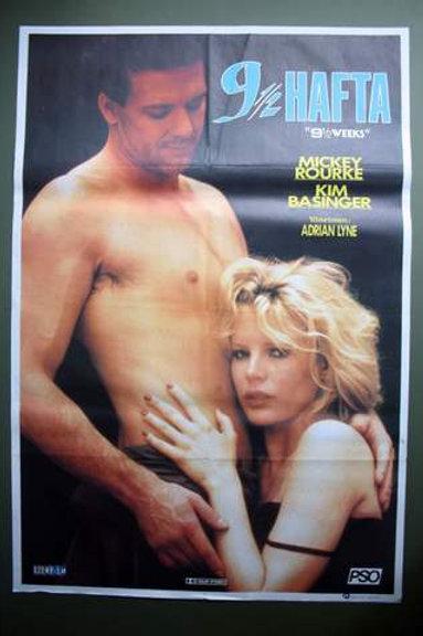 9½ Weeks Mickey Rourke ONE SHEET Turkish Movie Poster
