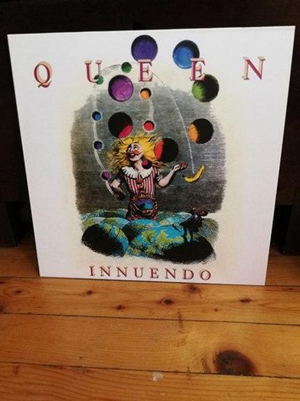 Queen Innuendo Plak Tıpkı Basım