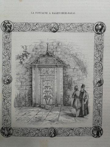 Bahçesaray'da Bir Çeşme / La Fontaine A Baghhtceh-Sarai Gravür