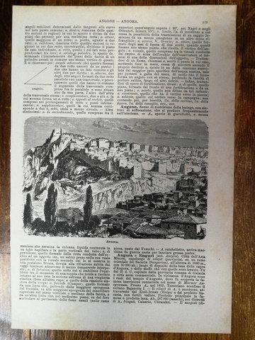 Ankara Angora gravür
