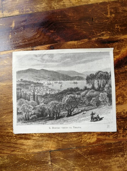 Tarabya'dan Boğaz Manzarası- Il Bosforo veduto Da Terapia