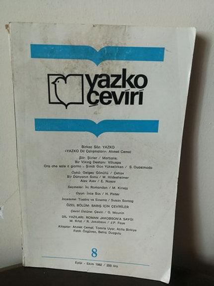 Yazko çeviri: Sayı 8 (Eylül-Ekim)