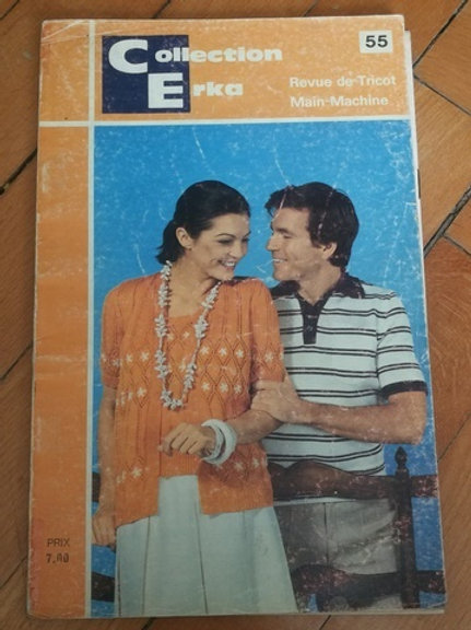 Collection Erka 55 revue de tricot main - machine