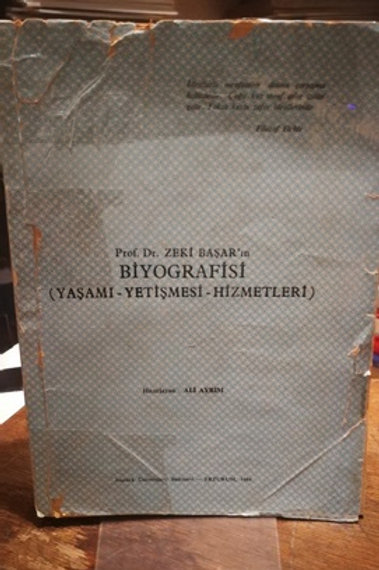 Prof. Dr. Zeki Başar'ın Biyografisi (Yaşamı-Yetişmesi-Hizmetleri)