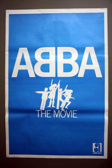 ABBA The Movie Original 1977 Turkish One Sheet Poster