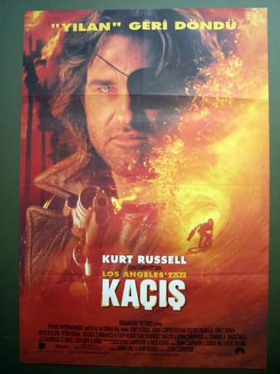 Escape From L.a. 1996 Original Vintage Turkish Movie Poster