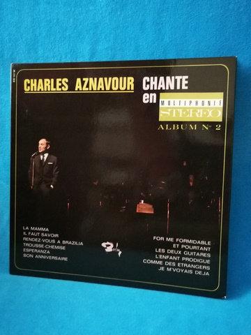 Charles Aznavour Chante en Album No:2 LP Plak