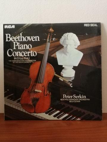 Beethoven Piano Concerto Peter Serkin LP Plak