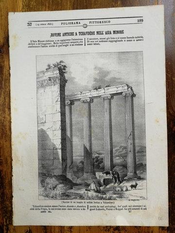 Analolu Antik Kalıntılar / Rovine Antiche A Tchavdére Gravür