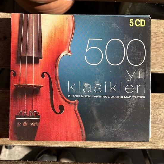 500 yıl Klasikleri Klasik Müzik Tarihinde Unutulmaz 75 Eser (5 CD)