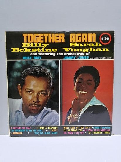 Billy Eckstine and Sarah Vaughan Together Again LP Plak
