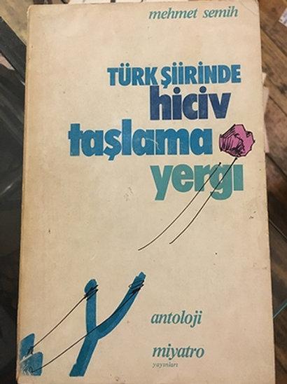 TÜRK ŞİİRİNDE HİCİV - TAŞLAMA - YERGİ
