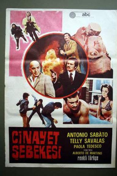 Crime Boss 1972 Western Original Turkish Movie Poster