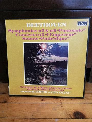 """Beethoven Symphonies no 5 &no 6 """"Pastoral"""" LP Plak"""
