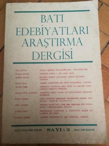 Batı Edebiyatları Araştırma Dergisi Sayı: 3 Mart 1980 bahar