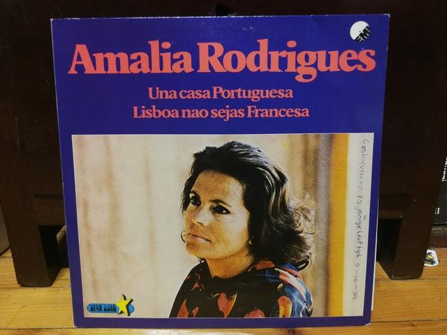 Amalia Rodrigues Una casa Portuguesa Lisboa nao sejas Francesa LP Plak