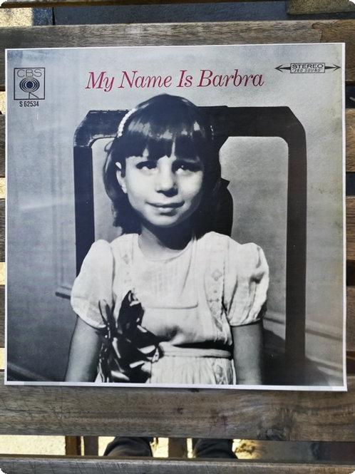 Barbra Streisand- My name is Barbra- Plak -LP