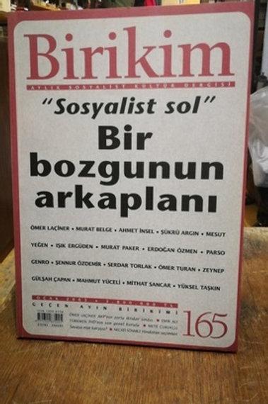 Birikim Aylık Sosyalist Kültür  Dergisi Sayı : 165 :