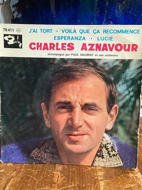 Charles Aznavour 45'lik Plak