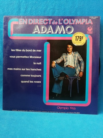 Adamo En Direct de L'Olimpia LP Plak