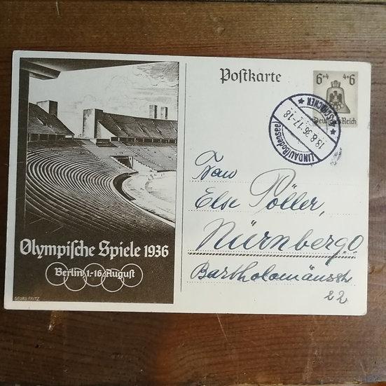1936 Yaz Olimpiyatları 3. Reich Dönemi Antiye