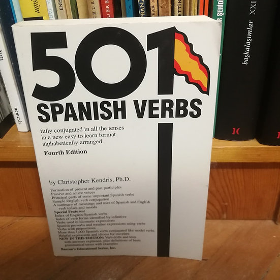 501 Spanish Verbs (Barrons) by Christopher Kendris (1996