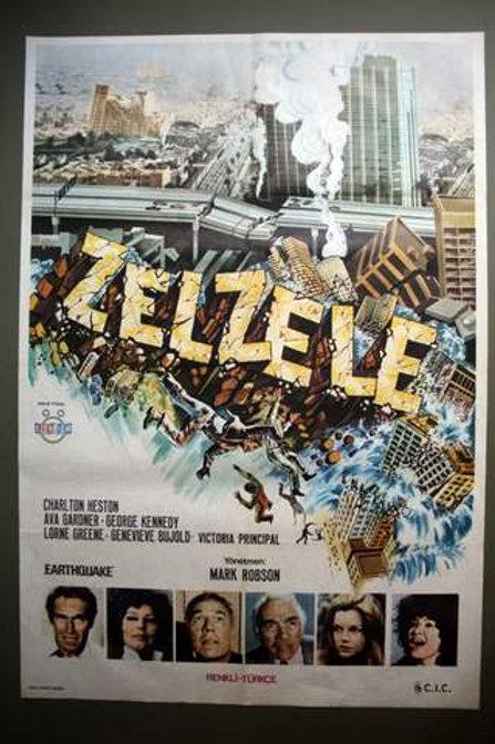 Earthquake 1974 Original Turkish One-Sheet Movie Poster