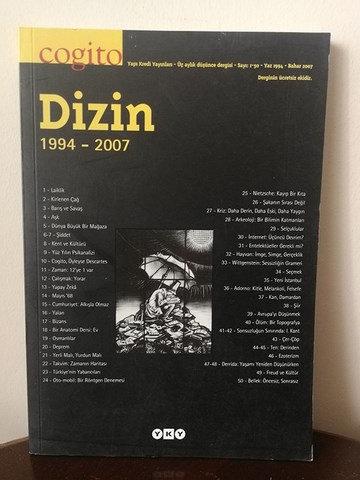 Cogito Dizin 1-50. sayılar: 1994-2007