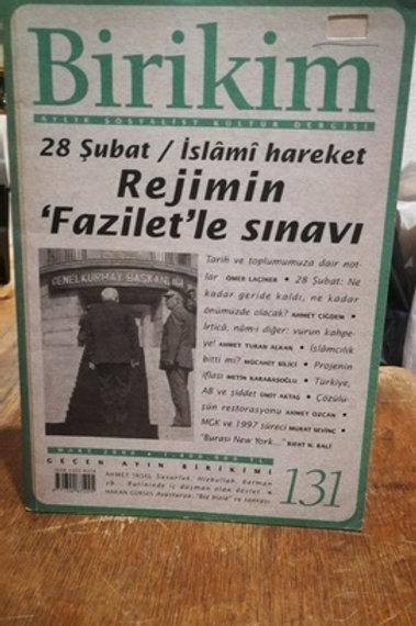 Birikim Aylık Sosyalist Kültür  Dergisi Sayı : 131