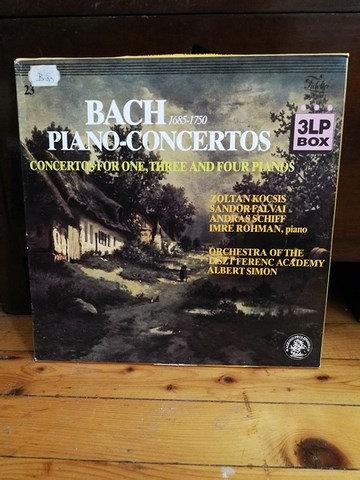 Bach Piano Concertos LP Plak