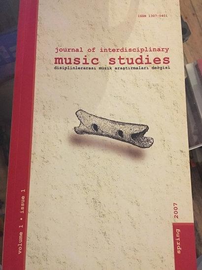 Journal of interdisciplinary Music Studies Volume 1