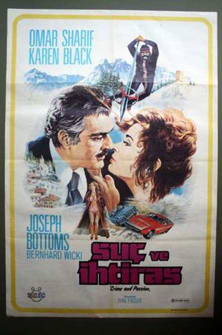Crime and Passion 1976 Original Turkish Movie Poster