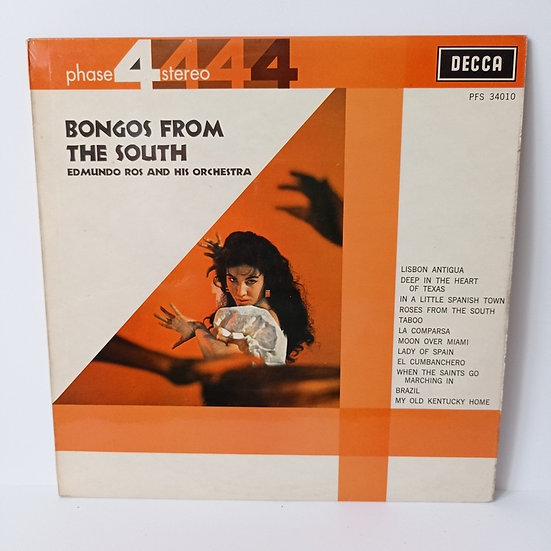 Bongos From The South Edmundo Ros and His Orchestra LP Plak