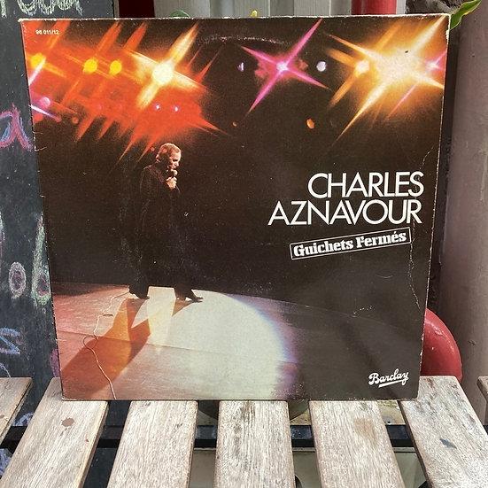 Charles Aznavour Guichets Fermes LP Plak (2 Plak)