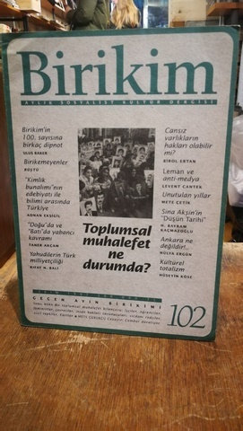 Birikim Aylık Sosyalist Kültür Dergisi Sayı: 102
