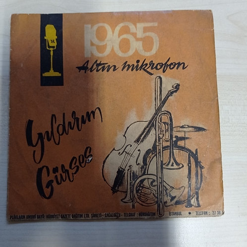 1965 Altın Mikrofon Yıldırım Gürses Canım İstanbul(SADECE KAPAK)